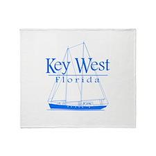 Key West Sailing Blue Throw Blanket