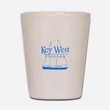 Key West Sailing Blue Shot Glass