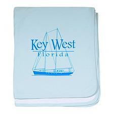 Key West Sailing Blue baby blanket