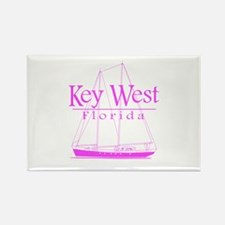 Key West Sailing Pink Rectangle Magnet (100 pack)