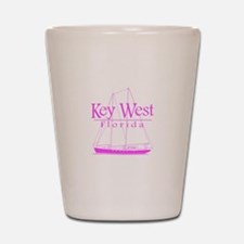 Key West Sailing Pink Shot Glass