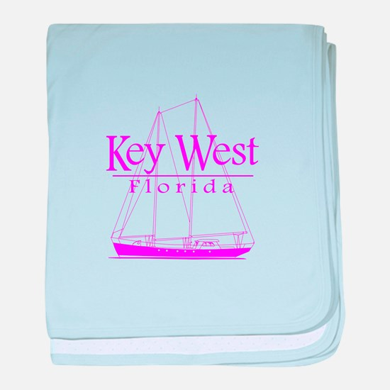 Key West Sailing Pink baby blanket