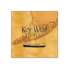 Key West Sailing Map Sticker