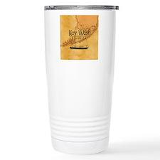 Key West Sailing Map Travel Mug