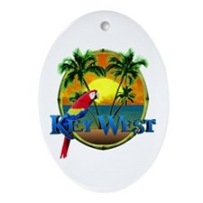 Key West Sunset Ornament (Oval)