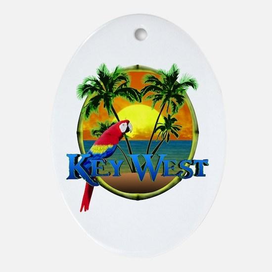Key West Sunset Ornament (Oval)