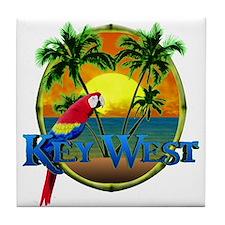 Key West Sunset Tile Coaster