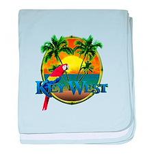 Key West Sunset baby blanket