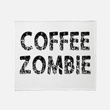 COFFEE ZOMBIE Throw Blanket