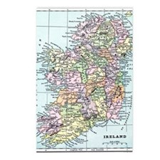 Vintage map of Ireland Postcards (Package of 8)