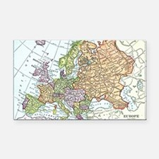 Vintage map of Europe Rectangle Car Magnet
