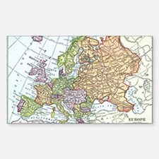 Vintage map of Europe Decal