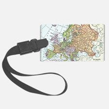 Vintage map of Europe Luggage Tag
