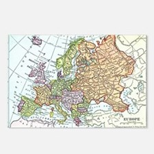 Vintage map of Europe Postcards (Package of 8)
