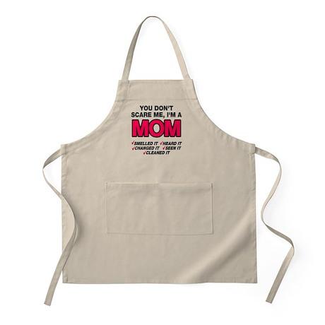 Don't scare me I'm a mom Apron