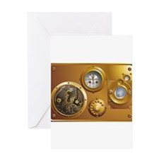 Cute Steampunk Greeting Card