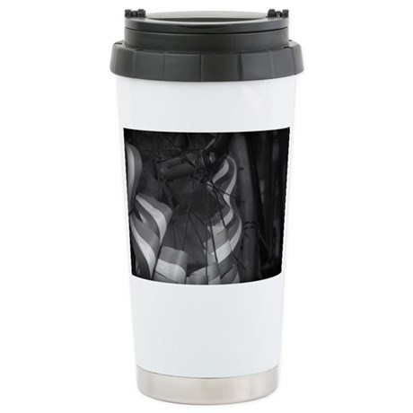 Patriotic Ribon Stainless Steel Travel Mug