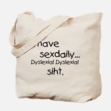 Cute Dyslexia Tote Bag