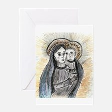 Mother and Son Greeting Card