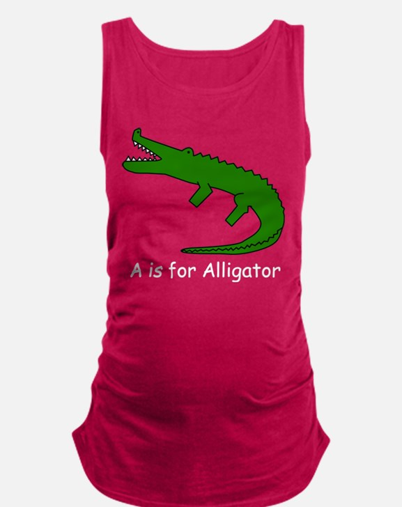 alligator10.png Maternity Tank Top
