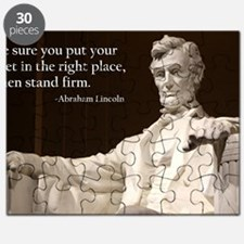 Lincoln Inspirational Quote Puzzle