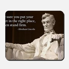 Lincoln Inspirational Quote Mousepad