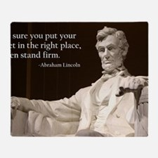 Lincoln Inspirational Quote Throw Blanket