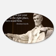 Lincoln Inspirational Quote Decal