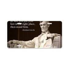 Lincoln Inspirational Quote Aluminum License Plate