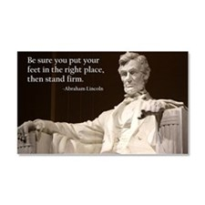 Lincoln Inspirational Quote Car Magnet 20 x 12