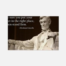 Lincoln Inspirational Quote Rectangle Magnet