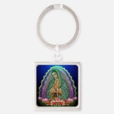 Guadalupe Glow Square Keychain