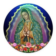 Guadalupe Glow Round Car Magnet