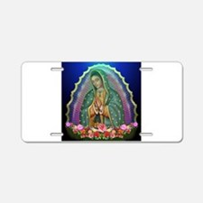 Guadalupe Glow Aluminum License Plate