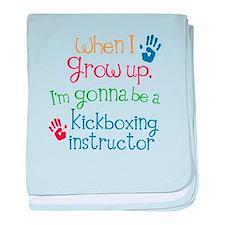 Future Kickboxing instructor baby blanket