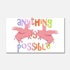 Anything is Possible Car Magnet 20 x 12