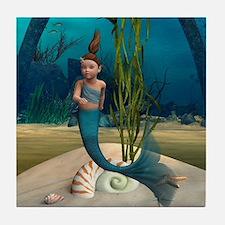 Little Mermaid Tile Coaster