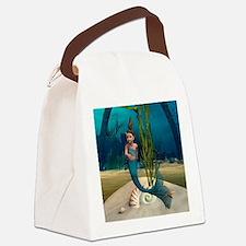 Little Mermaid Canvas Lunch Bag