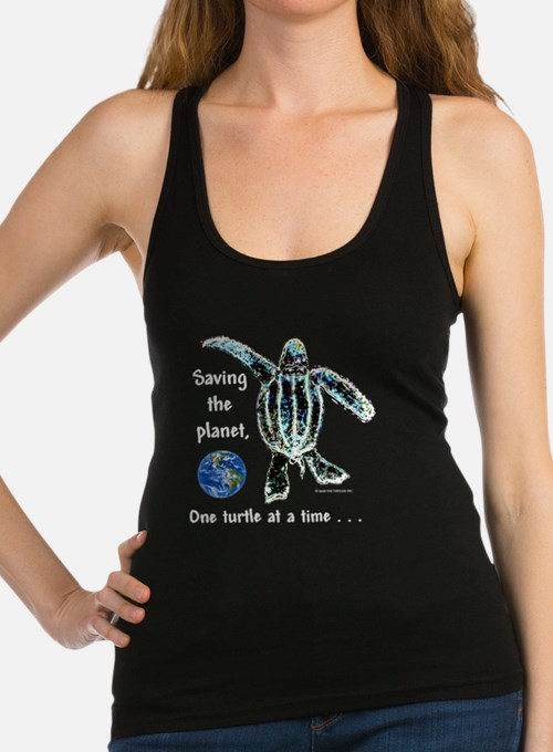 ONE TURTLE AT A TIME Racerback Tank Top