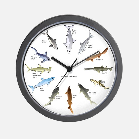Shark Clock Two Wall Clock