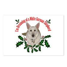 White German Shepherd Postcards (Package of 8)