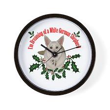 White German Shepherd Wall Clock