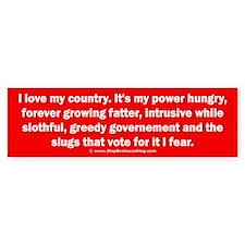 Love Country Fear Government Bumper Sticker