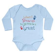Future Lyricist Long Sleeve Infant Bodysuit