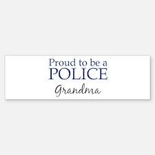 Police: Grandma Bumper Car Car Sticker