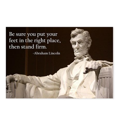 Lincoln - Stand Firm Rectangle Magnet
