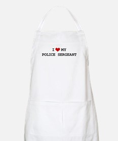 I Love POLICE SERGEANT BBQ Apron