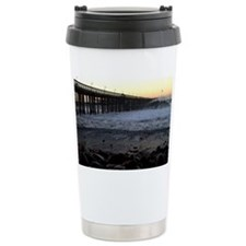 Ocean Wave Storm Pier Travel Mug
