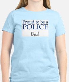 Police: Dad Women's Pink T-Shirt