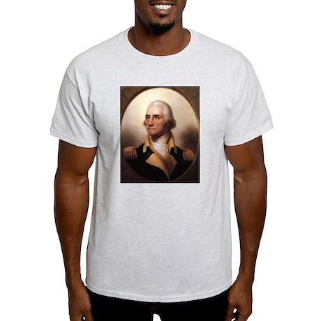 Washington Portrait Ash Grey T-Shirt